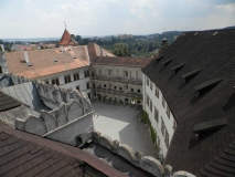 dvur Jindrichuv Hradec zamek