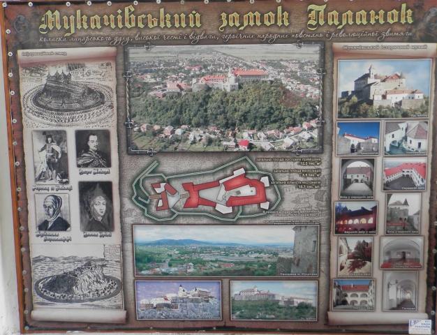 мукачевский замок паланок карта замка